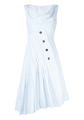 Delpozo asymmetric striped dress - White