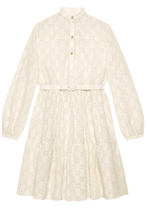 Gucci GG broderie anglaise dress - White
