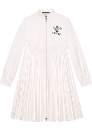 Gucci Technical jersey dress with Gucci Tennis - White