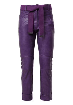 Andrea Bogosian panelled cropped trousers - Purple