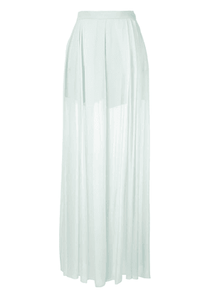 Delpozo sheer wide leg trousers - Blue