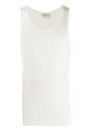 You As ribbed vest top - White