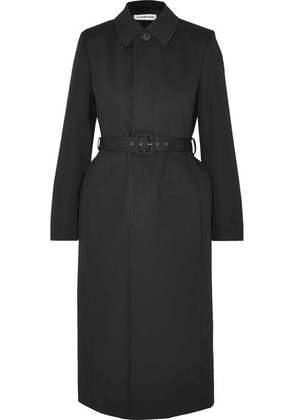 Balenciaga - Belted Cotton-twill Trench Coat - Black