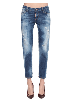 Jennifer Cropped Cotton Denim Jeans