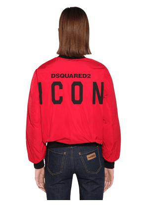 Back Logo Nylon Taffeta Jacket