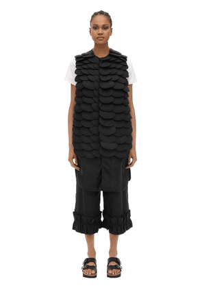 Noir Iridium Embellished Long Nylon Vest