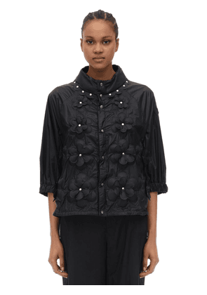 Noir Copper Embellished Nylon Jacket