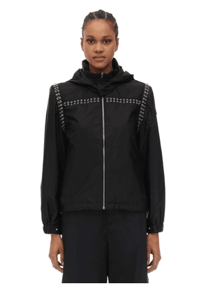 Noir Bronze Embellished Nylon Jacket