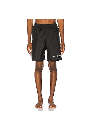 Givenchy Flat Classic Swim Bermuda Short in Black