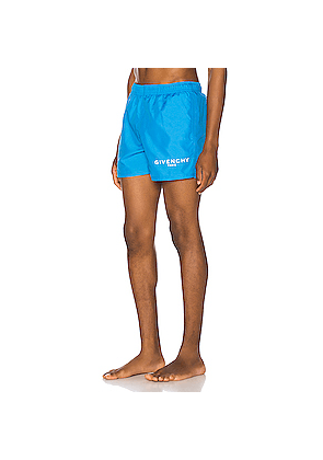 Givenchy Flat Classic Swim Short in Blue