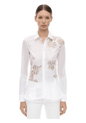 Lace Cotton Poplin Shirt