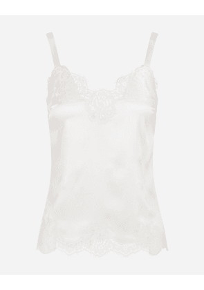 Dolce & Gabbana Underwear and Socks - LINGERIE TOP WITH LACE DETAILS WHITE