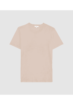 Reiss Heath - Garment Dyed T-shirt in Sand, Mens, Size S
