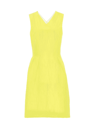 Ps By Paul Smith Cross Back Pleated Dress Citrus