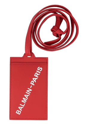Balmain branded card holder - Red