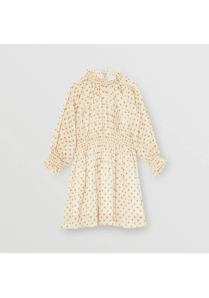 Burberry Childrens Star Print Gathered Cotton Dress, Size: 10Y