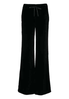 Unravel Project velvet palazzo trousers - Black