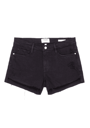 'Le Cut Off' frayed denim shorts