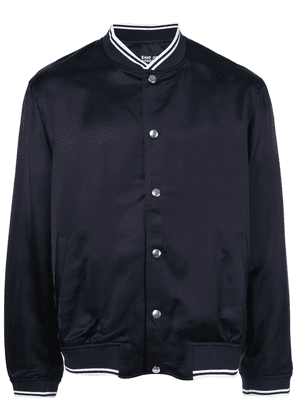 Band Of Outsiders embroidered logo bomber jacket - Blue