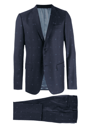 Gucci Monaco bees and hearts wool suit - Blue