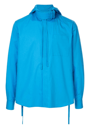 Craig Green straight-fit shirt with structured collar - Blue