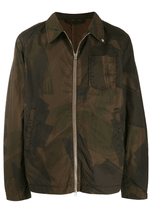 Closed camouflage print jacket - Brown