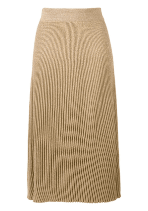 Marni ribbed knit A-line skirt - Gold