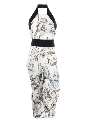 Chalayan Sabine print dress - White