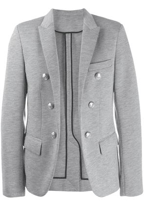 Balmain button detail blazer - Grey