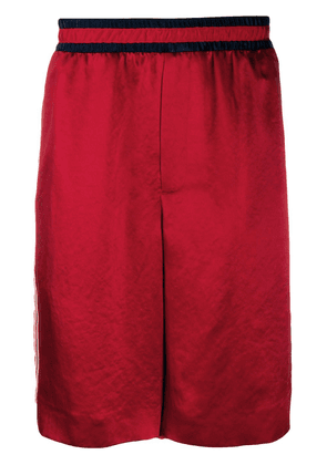 Gucci contrasting stripe basketball shorts - Red