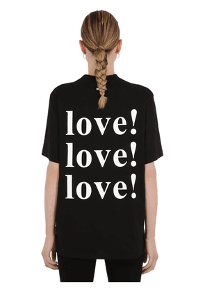 Love Printed Cotton Jersey T-shirt