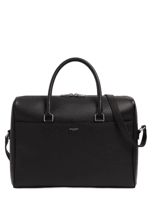 Grained Leather Business Bag