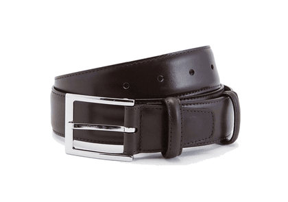 Brown Box Calf Leather Belt
