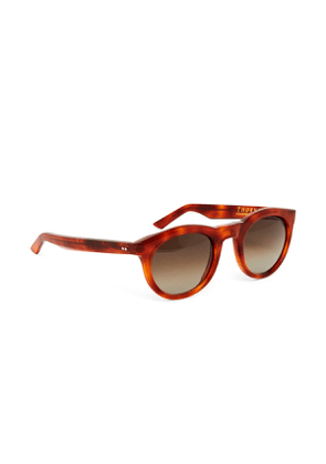 Light Grey and Brown Tortoiseshell Thornhill Rounded Sunglasses