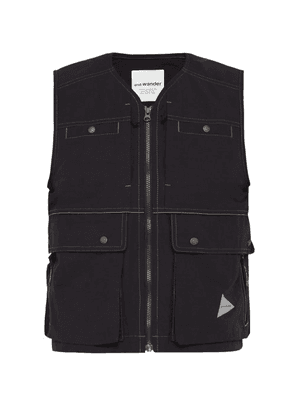 And Wander - Multi Pocket Technical Gilet - Mens - Black