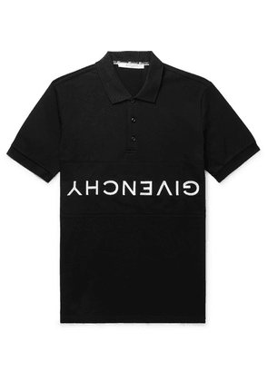 Givenchy - Slim-fit Logo-embroidered Cotton-piqué Polo Shirt - Black