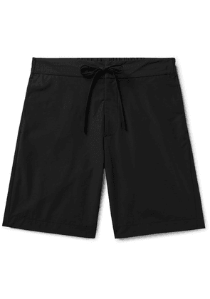 Freemans Sporting Club - Slim-fit Cotton And Nylon-blend Drawstring Shorts - Black