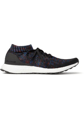 Adidas Sport - Ultraboost Uncaged Rubber-trimmed Primeknit Sneakers - Black