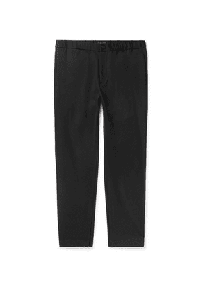 Theory - Black Terrance Tapered Ponte Trousers - Black