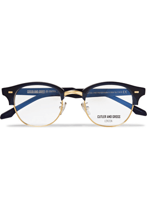 Cutler and Gross - D-frame Acetate And Gold-tone Optical Glasses - Midnight blue