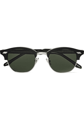 Cutler and Gross - Square-frame Acetate And Silver-tone Sunglasses - Black