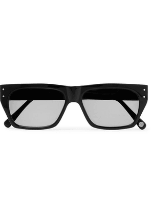 Cubitts - Tankerton Rectangle-frame Acetate Sunglasses - Black