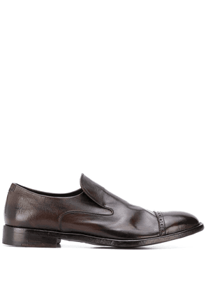 Alberto Fasciani perforated loafers - Brown