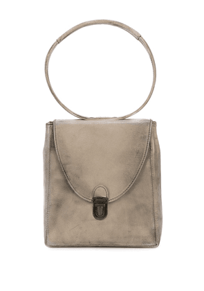 Cherevichkiotvichki mini rectangular Lock bag - Grey