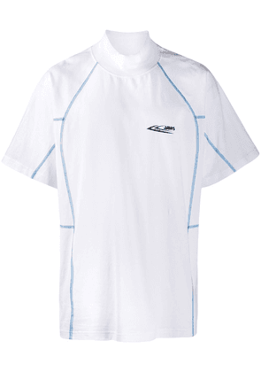 Calvin Klein 205W39nyc Jaws contrast piped T-shirt - White