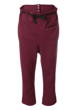 Marni cropped trousers - Red