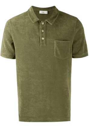 Closed towelling polo shirt - Green