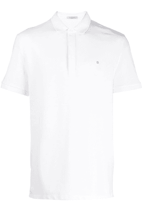 Valentino rockstud appliqué polo shirt - White