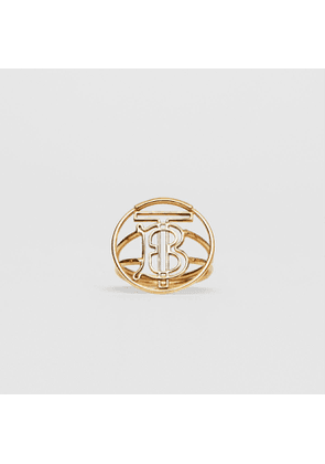 Burberry Gold-plated Monogram Motif Ring, Yellow