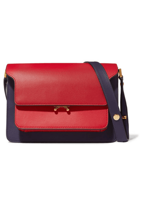 Marni - Trunk Small Color-block Leather Shoulder Bag - Red